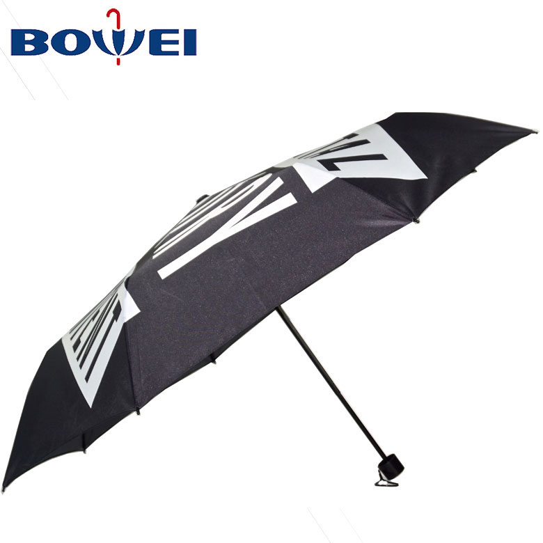 2020  Chinese Factory Sale Three Folding Compact floret pattern Umbrella for Women