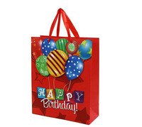 China manufacturer happy birthday gift packaging bags with your own design