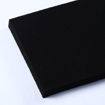 harmful gas filtering polyester fabric activated carbon sponge carbon fiber dust collector filter foam
