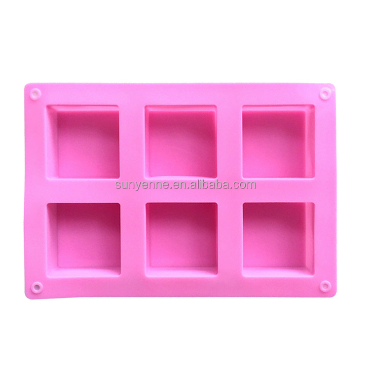Silicone cake bakeware 6 mini loaf pan soap silicone making mold cake baking pans muffin molds