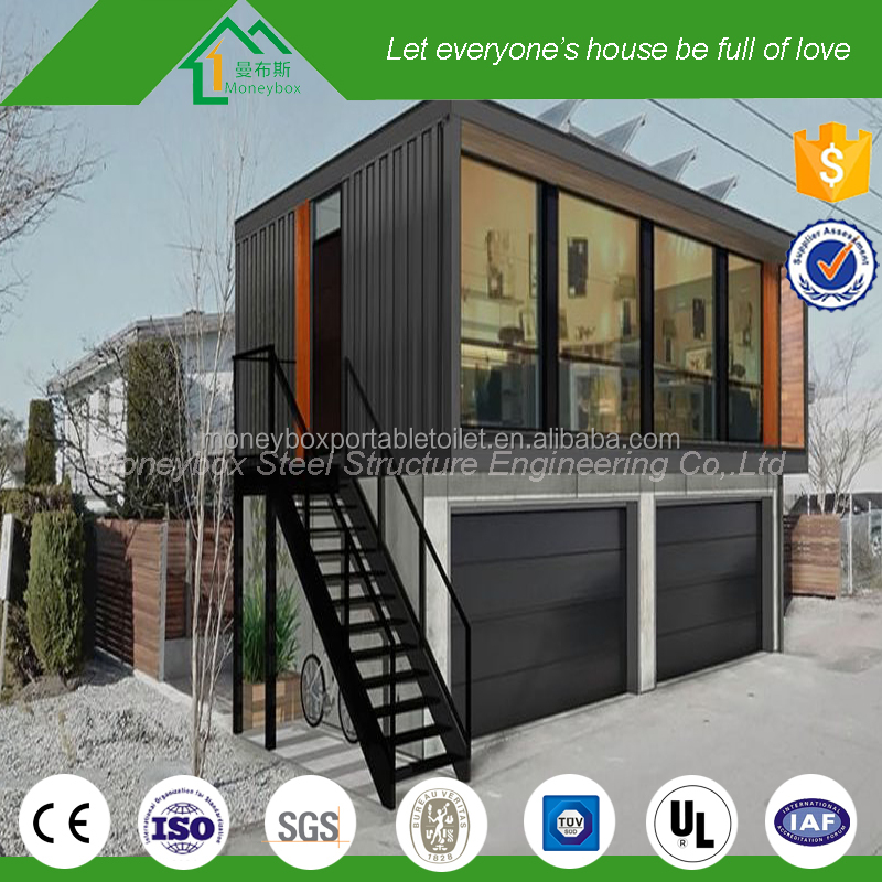 Sandwich panel customized two story low cost prefab warehouse with prefab stairs