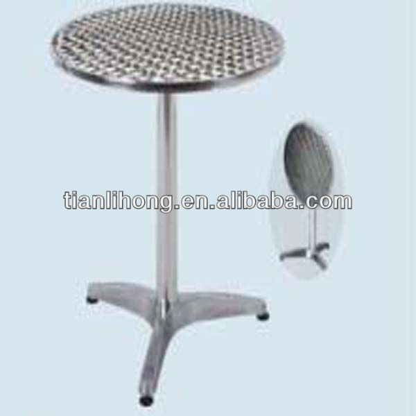 Outdoor Folding Round Aluminum Bistro Table