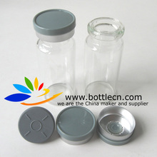 pharmaceutical glass 10ml vials for steroids with rubber and cap