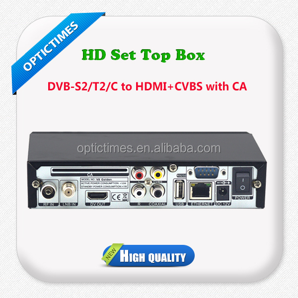 International superior quality cheap price dvb s2/t2/c hd dish for cam card/ sim card set top satellite box tv receiver