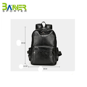 high quality simple style office laptop pu backpack