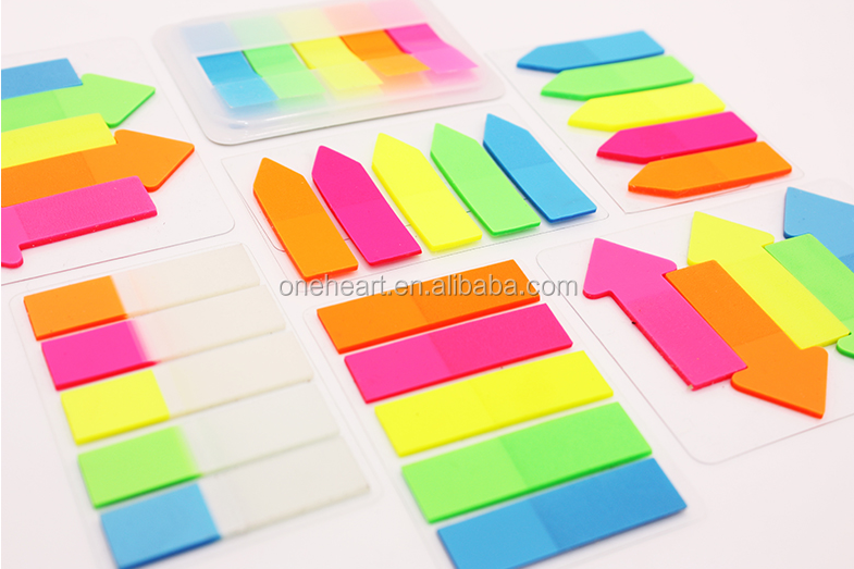 Transparante kleurrijke huisdier sticky notes, plastic bladwijzers, custom sticky notes huisdier film index