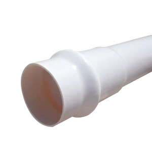 Strong 400mm Diameter 3mm Thickness White Plastic PVC Tube Price