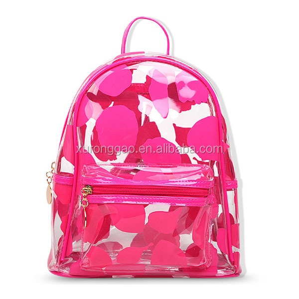 college bags girls clear pvc women mini backpack
