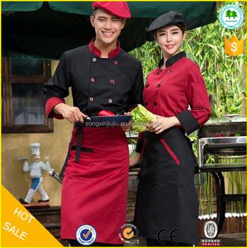 Su Misura a buon mercato Nero Professionale Chef Ristorante uniforme Cuoco  Giacca aa96dd3afaca