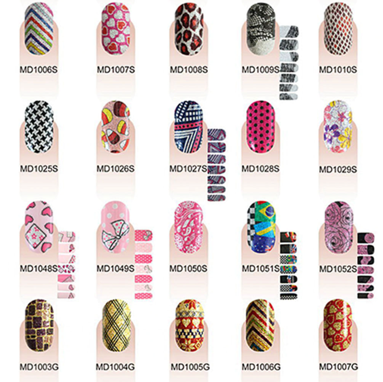 MELODI fashion nail art designs pictures, custom strips nails