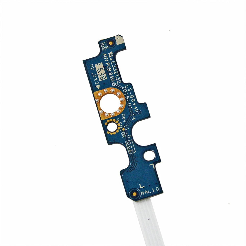 GinTai Power Button Switch Board for Dell Inspiron 15-5000 5555 5558 5559 Vostro 3458 3558 P51F 94MFG LS-B844P W/ Cable