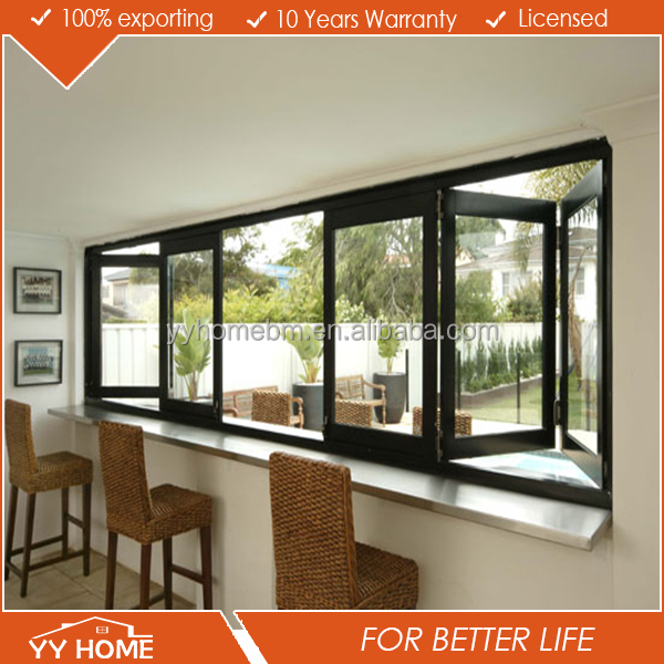 Picture double glazed aluminium bifold windows