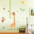 New Cartoon Animal Hight Chart Wall Sticker Decals Lion Giraffe Monkey Mouse Kids Decoration Room Home stickers