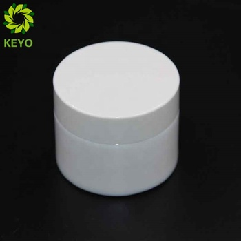Cosmetic Wide Container  50Ml White Cap Lid Glass Jar For Cream