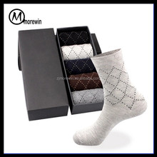 Morewin Brand New Arrival Comfortable Knitted Egyptian Cotton Business Men Cozy Week Casual Sock