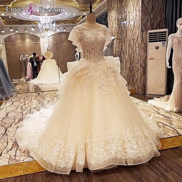 Ls79643 Pictures Of Latest Gowns Designs New Bride Alibaba Wedding ...