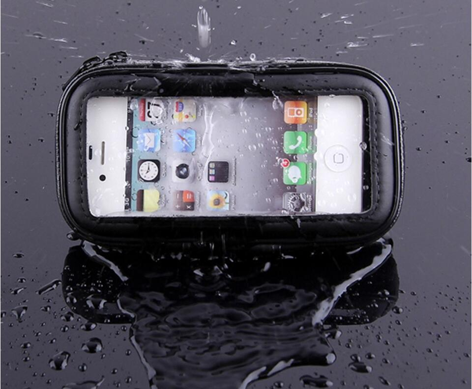 Hiking cycling touch screen black waterproof mobile phone case mount mobile phone holder
