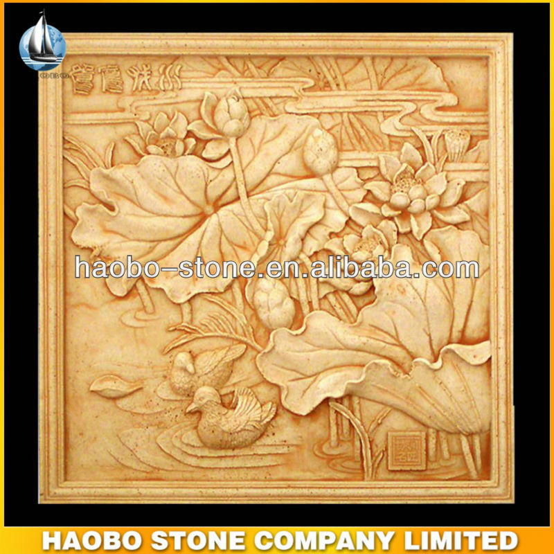 Haobo Stone Hand Made Relief Wall Sculpture Modern Art - Buy ...