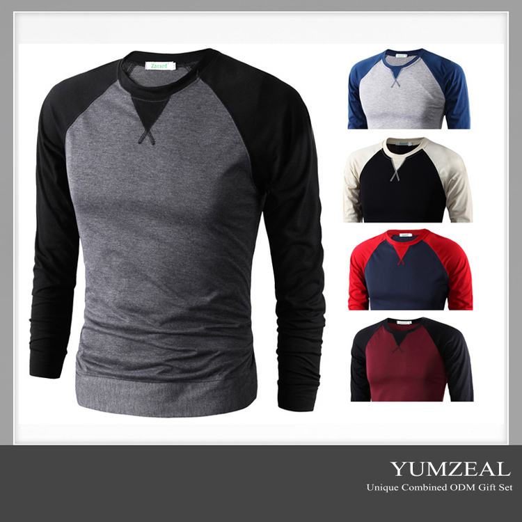 Long Sleeve Hood Tshirts/Plain Long Sleeve T shirt/O Neck Long Sleeve T shirt