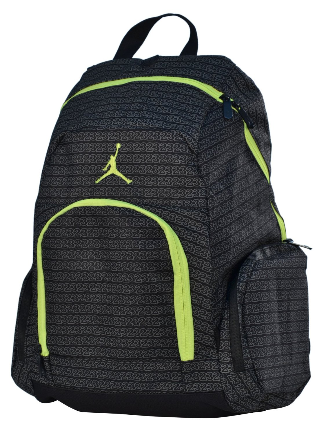 Jordan Nike Air Jumpman 23 Backpack Laptop Book Bag-Black/Yellow