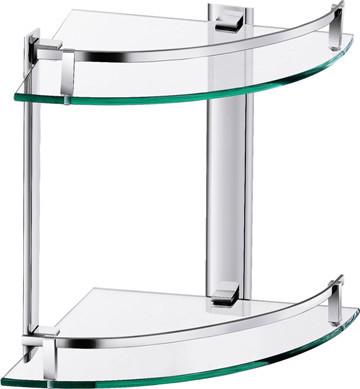 aluminium double glass shelfcorner shelf bathroom shelf - Eckregal Dusche Glas