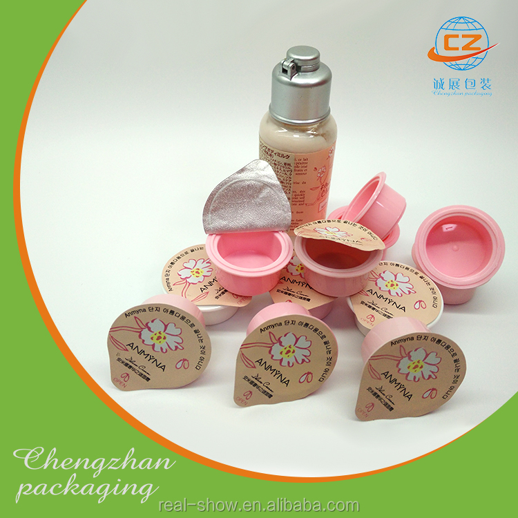 Plastic cup and lid for yogurt food packaging