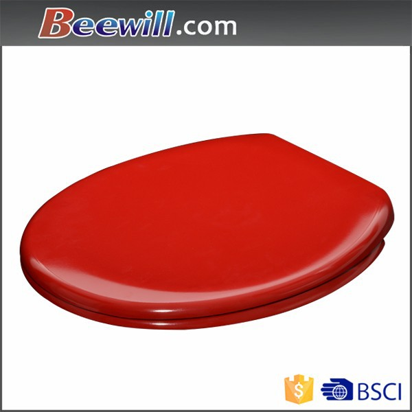 Customized sanitary ware red toilet with soft close damper
