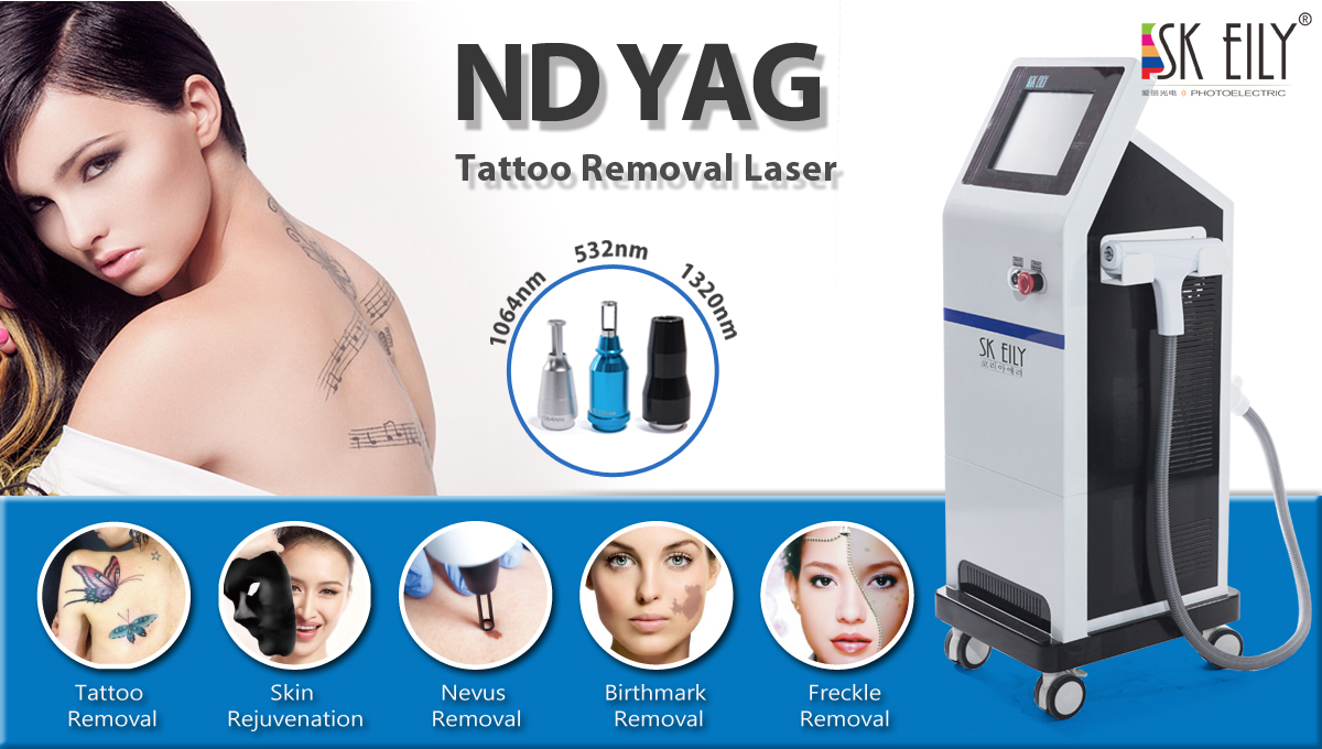 High Quality Q Switched ND yag Laser Machine For Tattoo Removal