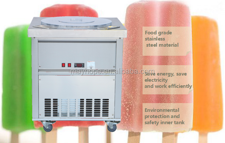 Thailand ice stick making machine with self-spin system good quality cooling liquid included