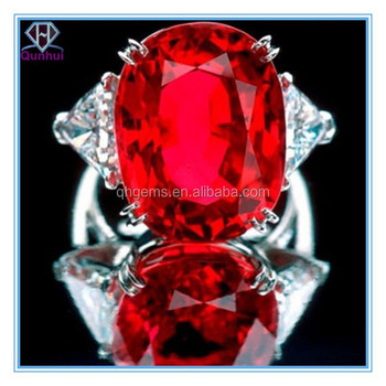 classic and elegant garnet oval shaped cubic zircon ring