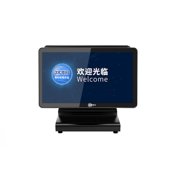 wholeset dual screen desktop pos machine with pos software