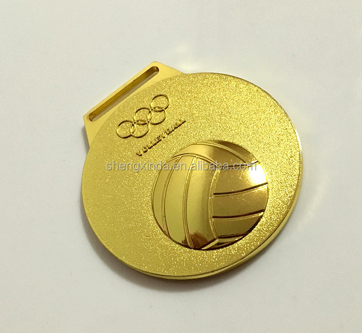 2016 round medals on sale volleyball medals/custom sport football medals