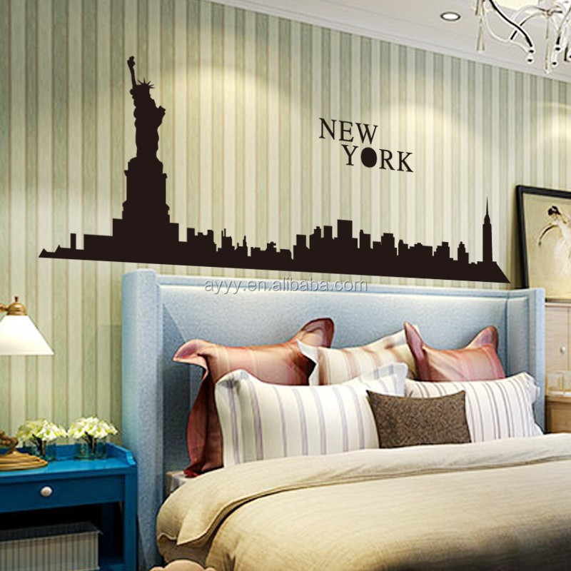 DC9027 Modern Decor Wall Sticker New York City Liberty Statue Removable  Vinyl For TV Background Home Part 35