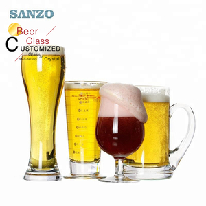 Custom logo german beer glasses steins mugs crystal pilsner beer glass