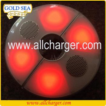 Stereo Lautsprecher Für Außen Pole Licht Terrasse LED Regenschirm  Mastleuchten Lautsprecher, Leicht Und Kompakt,
