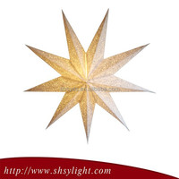 Popular Christmas Decoration Gold Christmas Wire Star Snowflake Ornament