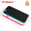 china supplier unbreakable Plain Plastic rubber phone case for iphone 6, soft touch black color mobile cover for iphone 6S