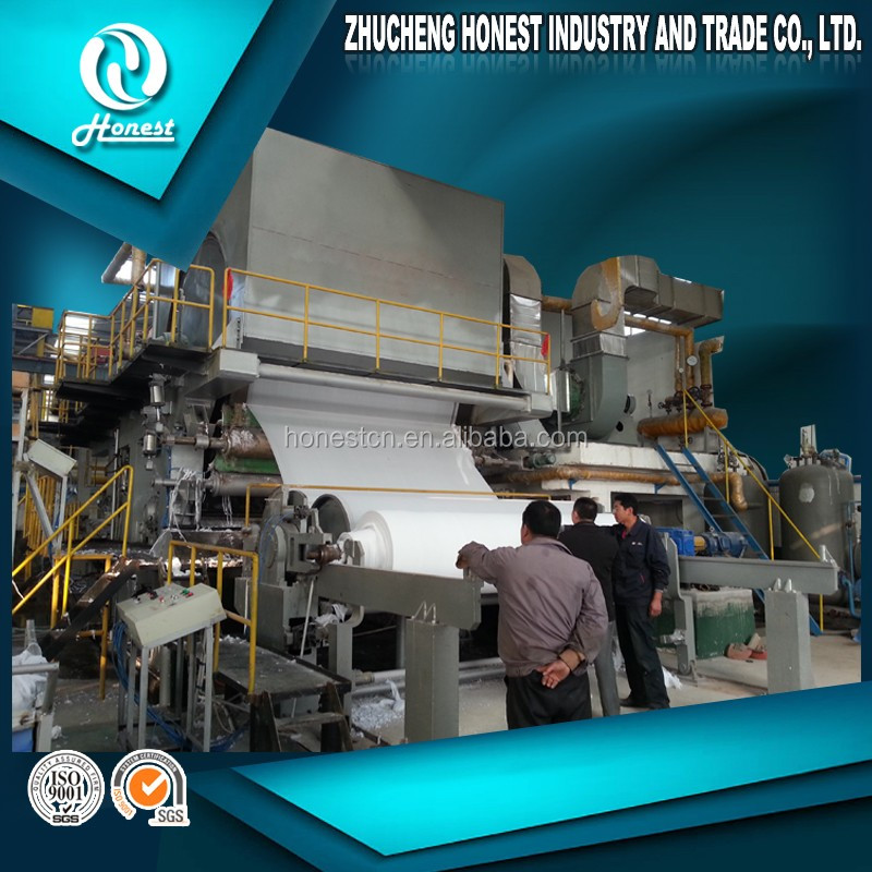 Direct supplier of 2800 model 12.5 TPD toilet tissue paper making machine and pulp making machine, waste paper and wood pulp