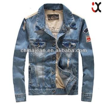 New stylish denim for men printed denim jacket adult denim jacket JXZ023 5b343a7324e2