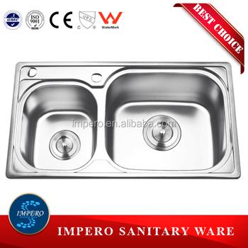 stainless steel double bowl aluminium kitchen sink stainless steel double bowl aluminium kitchen sink   buy aluminum      rh   alibaba com