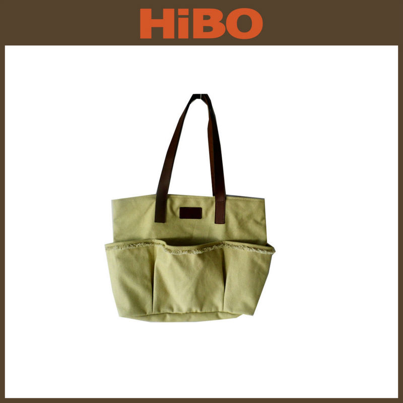 Wholesale 2015 Canvas Beach Tote Bag With Outside Pockets - Buy ...