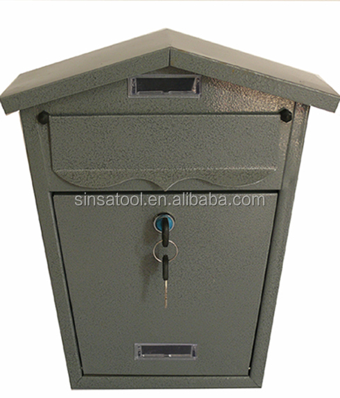 Rust Proof Powder Coated Galvanized Steel Locking Security Mailbox