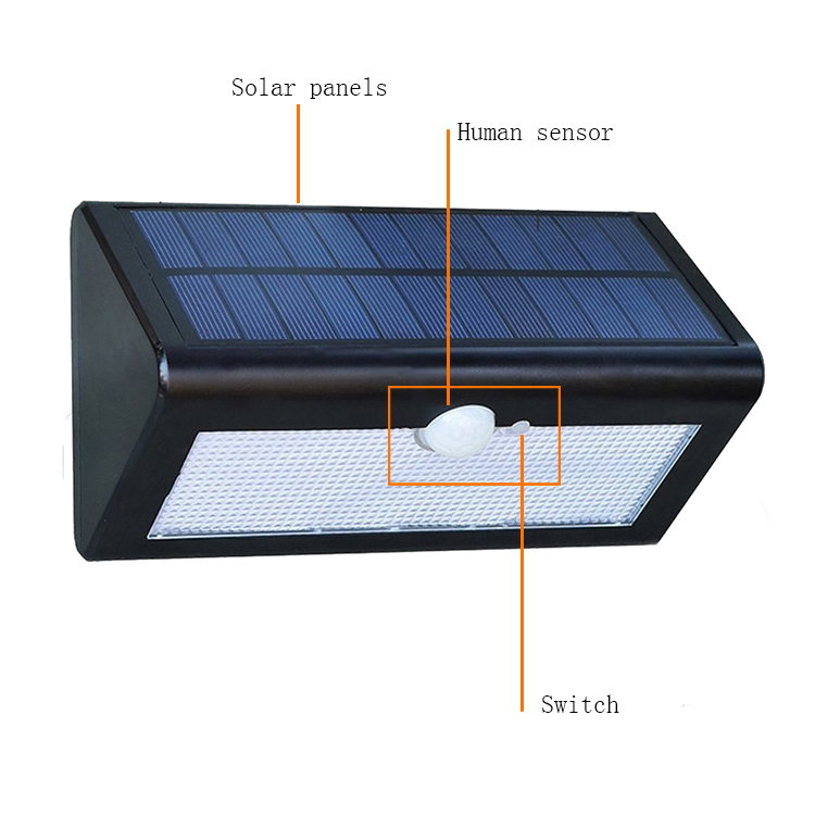 High Brightness IP65 Pir Motion Sensor Solar LED Garden Light for Path Patio Deck Driveway and Garden