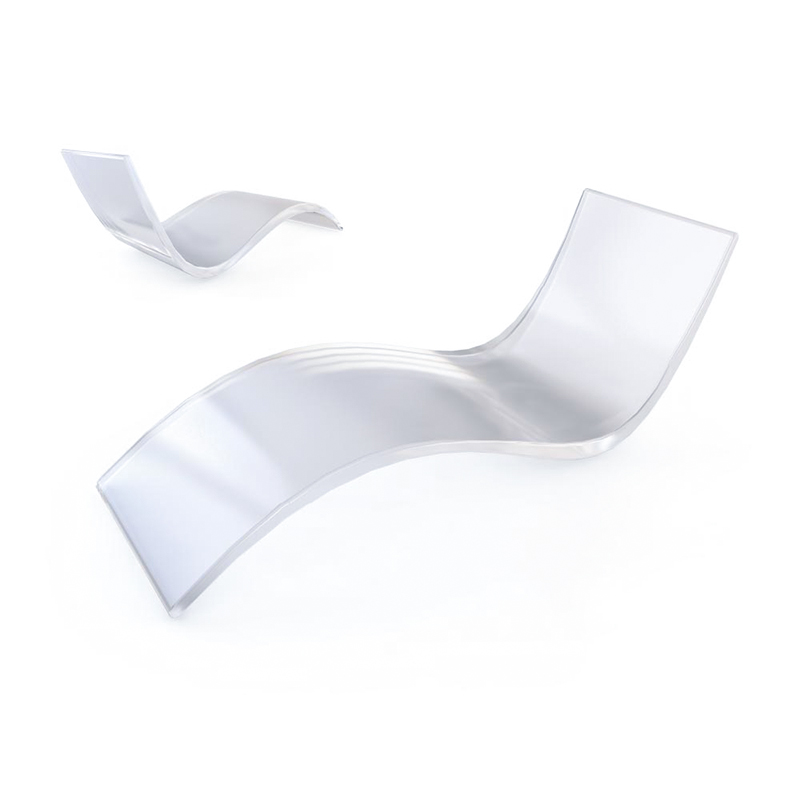 Modern Rocking Chair Acrylic Lounge Chair Day Bed Recliner Chair