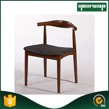 Comfortable Relax Solid Wooden Short Back Chair