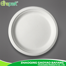 10 inch bagasse biodegradable disposable paper plate