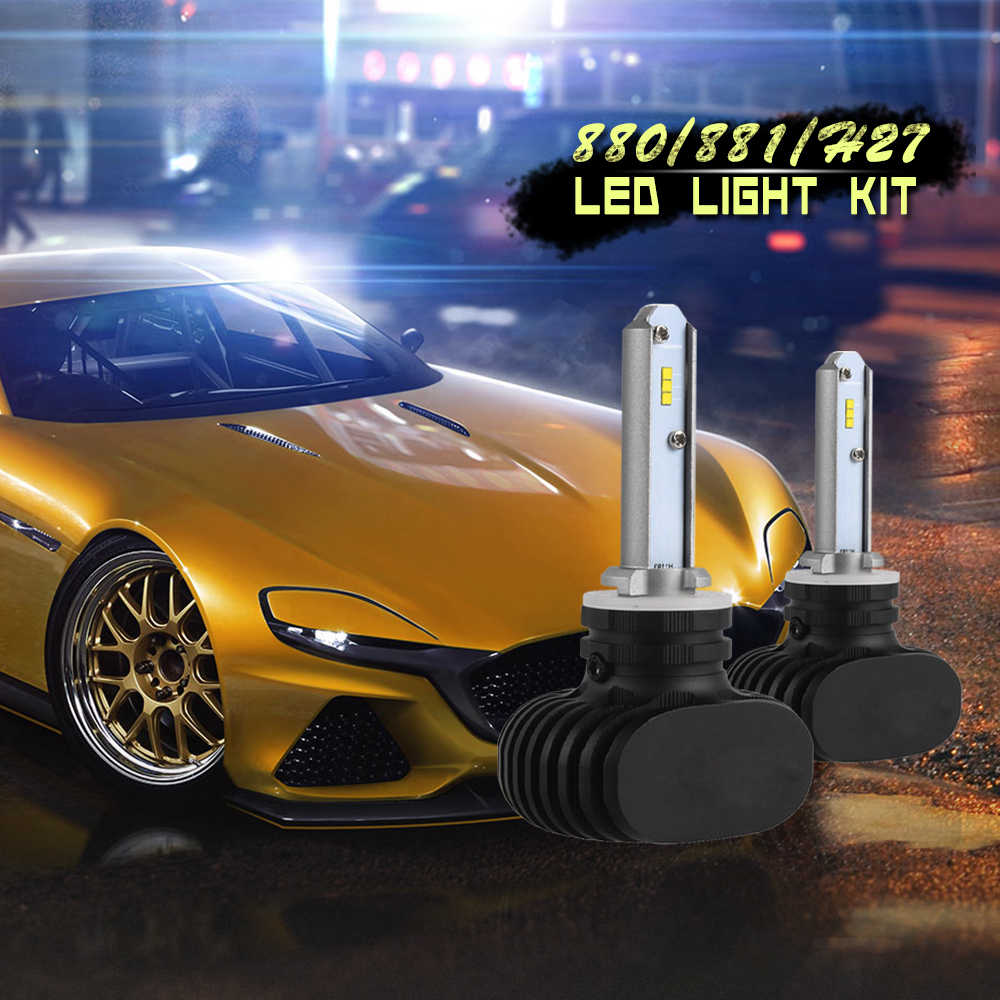 Super Terang CSP Chip 880 12 V 24 V Tanpa Kipas Auto Light Bulb Kit H11 H7 S1 Mobil H4 LED lampu