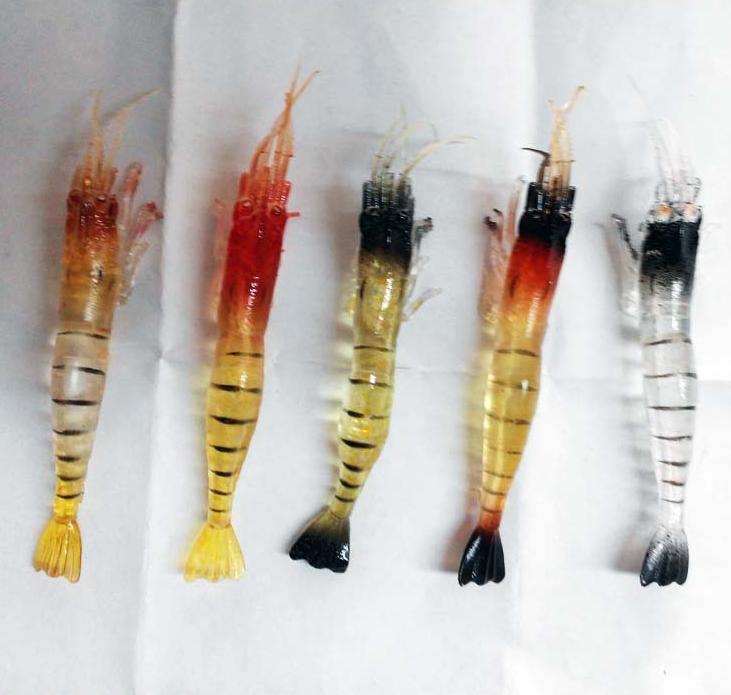 10 Fisch Garnelen Glow Lure köder Angeln Simulation Leuchtende Garnelen LockenAA