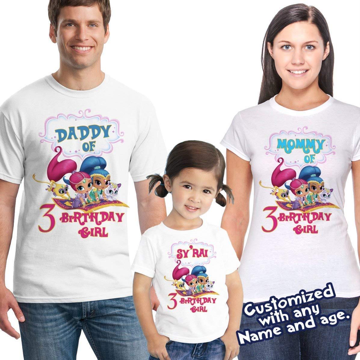 Shimmer and Shine Birthday Shirt, shimmer and shine Custom Shirt, Personalized shimmer Shirt, shine family shirts