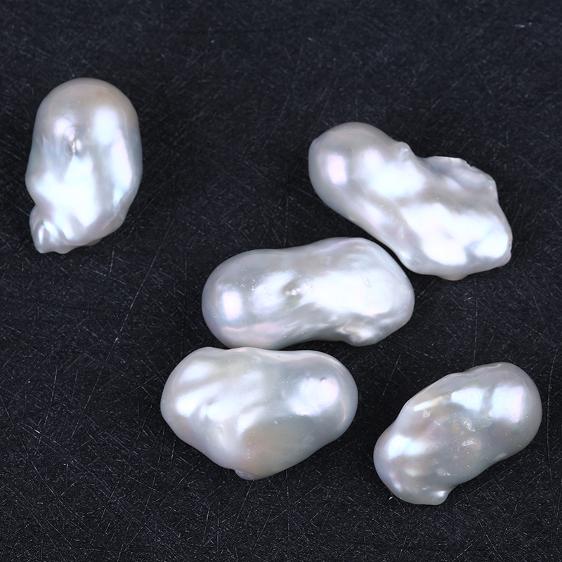 20-30mm big white color baroque shape fresh water pearl beads